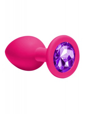 Anal Plug Emotions Cutie Medium Pink dark purple crystal